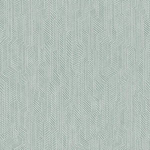 Dimensional Artistry Teal Metropolis Geometric Wallpaper