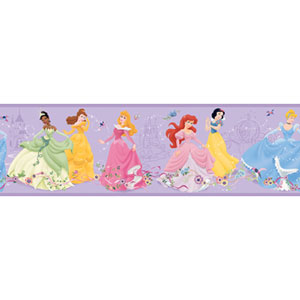 Walt Disney Kids Dancing Princess Border