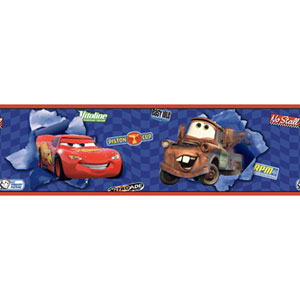 Walt Disney Kids Cars Lightning McQueen and Mater Border