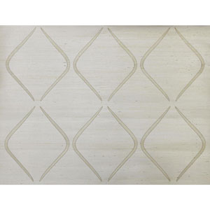 Candice Olson Natural Splendor Marquise White Wallpaper