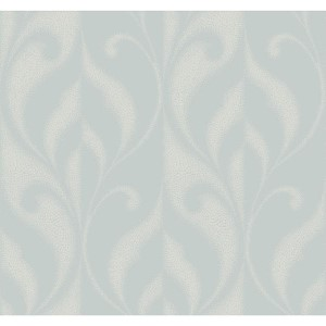 Modern Luxe Iced Silver Paradox Wallpaper