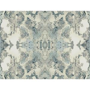 Modern Luxe Deep Blue Grey and Graphite Grey Inner Beauty Wallpaper