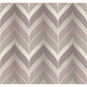 Modern Luxe Pink and Gray Gatsby Wallpaper