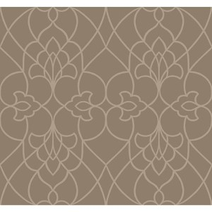 Modern Luxe Crystalline Gold and Cream Pirouette Wallpaper