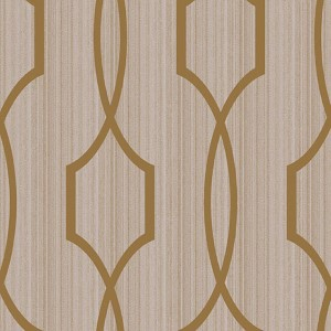 Modern Luxe Bright Gold and Softest Grey Palladian Wallpaper