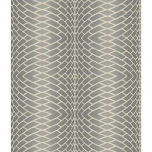 Modern Luxe Frosted Pewter and Frosted Silver Impulse Wallpaper