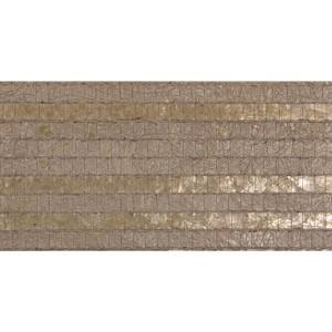 Modern Luxe Taupe Woven Capiz Wallpaper