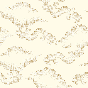 Dwell Studio Cloudburst Off Whites Wallpaper