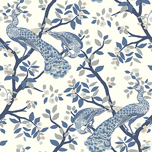 Dwell Studio Plume Blue Wallpaper