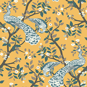 Dwell Studio Plume Yellow Wallpaper