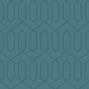 Dwell Studio Dotted Trellis Blue Wallpaper