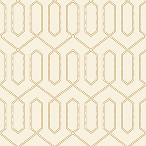 Dwell Studio Dotted Trellis White and Off Whites Wallpaper