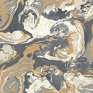Dwell Studio Medici Marble Black Wallpaper