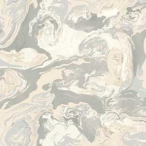 Dwell Studio Medici Marble Beige Wallpaper