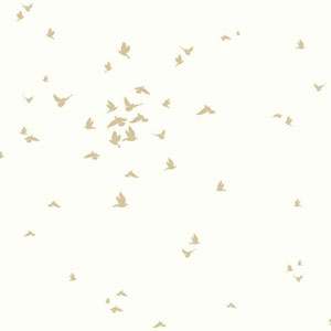 Dwell Studio Baby and Kids Fable Bird Metallic Wallpaper