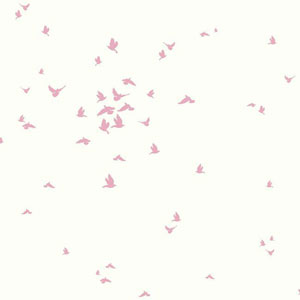 Dwell Studio Baby and Kids Fable Bird Pink Wallpaper