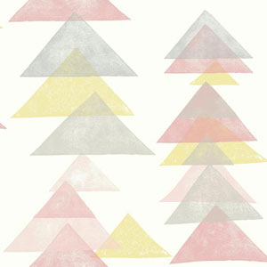 Dwell Studio Baby and Kids Triangles Pink and Yellow Wallpaper