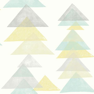 Dwell Studio Baby and Kids Triangles Multicolor Wallpaper