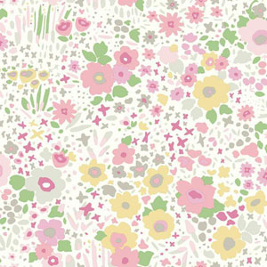 Dwell Studio Baby and Kids Posey Sidewall Pink and Green Wallpaper