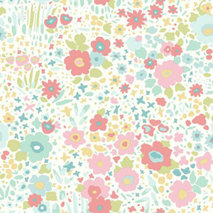 Dwell Studio Baby and Kids Posey Sidewall Multicolor Wallpaper