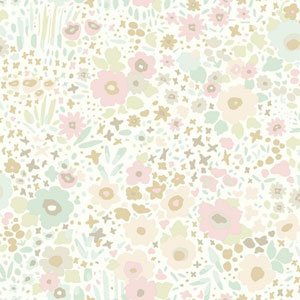 Dwell Studio Baby and Kids Posey Sidewall Pink and Blue Wallpaper
