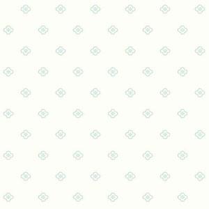 Dwell Studio Baby and Kids Quatrefoil Blue and Green Wallpaper