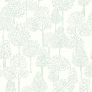 Dwell Studio Baby and Kids Treetops Blue and White Wallpaper