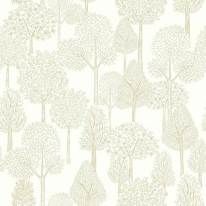Dwell Studio Baby and Kids Treetops Metallic Wallpaper
