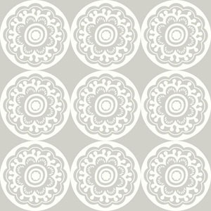 Dwell Studio Baby and Kids Zinnia Black and White Wallpaper