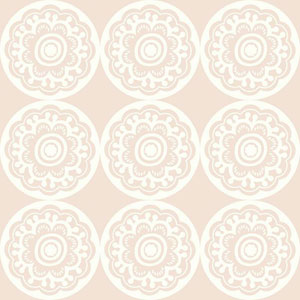 Dwell Studio Baby and Kids Zinnia Pink Wallpaper