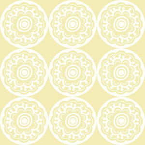 Dwell Studio Baby and Kids Zinnia White and Yellow Wallpaper