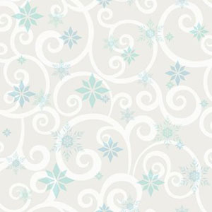 Disney Kids III Disney Frozen Snowflake Scroll Wallpaper