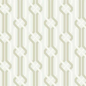 Carey Lind Vibe Criss Cross Pearl and Taupe Wallpaper
