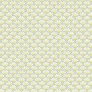 Carey Lind Vibe Scallop White, Grey, Yellow and Silver Wallpaper
