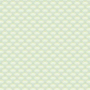Carey Lind Vibe Scallop Blue and Green Wallpaper