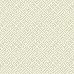 Carey Lind Vibe Greek Key Beige and Cream Wallpaper
