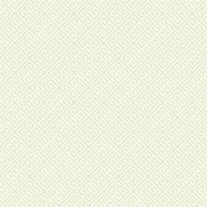 Carey Lind Vibe Greek Key Pearl and Chalk White Wallpaper