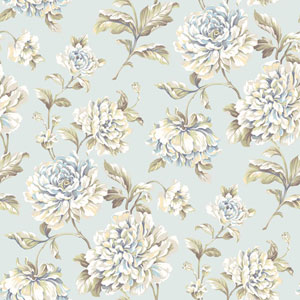 Arlington Blue Painterly Floral Wallpaper