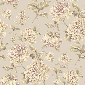 Arlington Soft Silver Painterly Floral Wallpaper