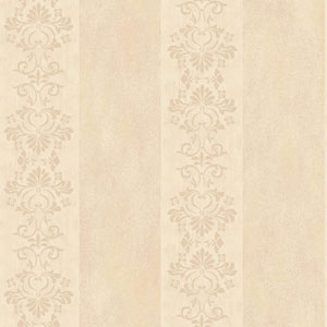 Arlington Cream and Beige Stencil Stripe Wallpaper