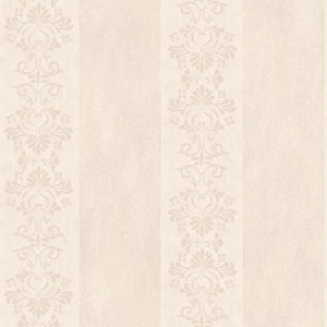 Arlington Cream and Ecru Stencil Stripe Wallpaper