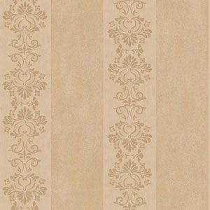 Arlington Bronze and Ecru Stencil Stripe Wallpaper