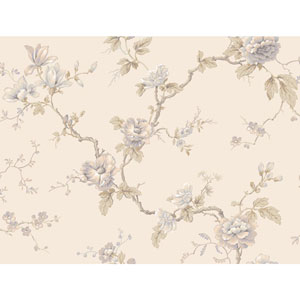 Arlington Cream and Lavender Branch Trail Wallpaper