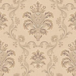 Arlington Beige and Cream Bohemian Damask Wallpaper