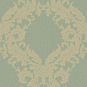 Shimmering Topaz Green and Beige Open Frame Wallpaper