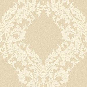 Shimmering Topaz Beige and Cream Open Frame Wallpaper