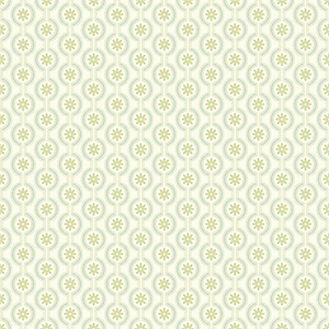 Waverly Cottage Cream, Sea Glass and Kiwi Chantal Wallpaper