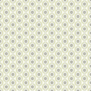 Waverly Cottage Cream and Asparagus Green Chantal Wallpaper