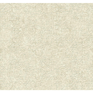 Waverly Cottage Cream, Soft Silver and Aquamarine Pen Pal Wallpaper