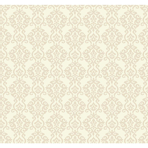 Waverly Cottage Warm White and Beach Sand Luminary Wallpaper